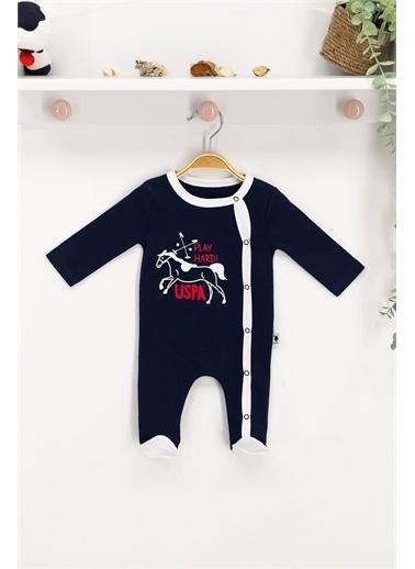 U.S. Polo Assn. Lisanslı Lacivert Bebek Tulum Lacivert